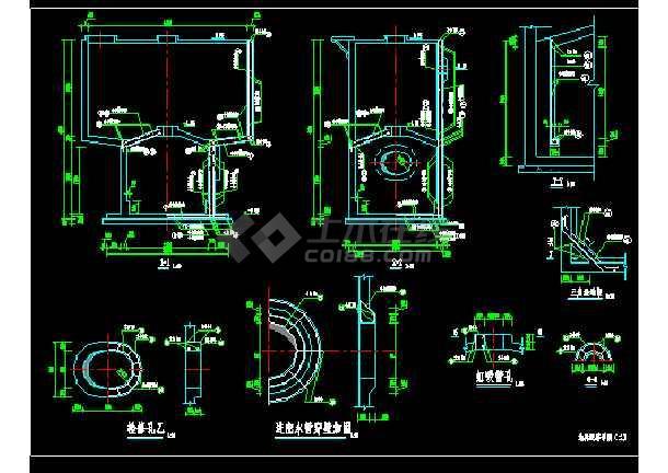 某1000td重力式无阀滤池工艺+结构图-图1