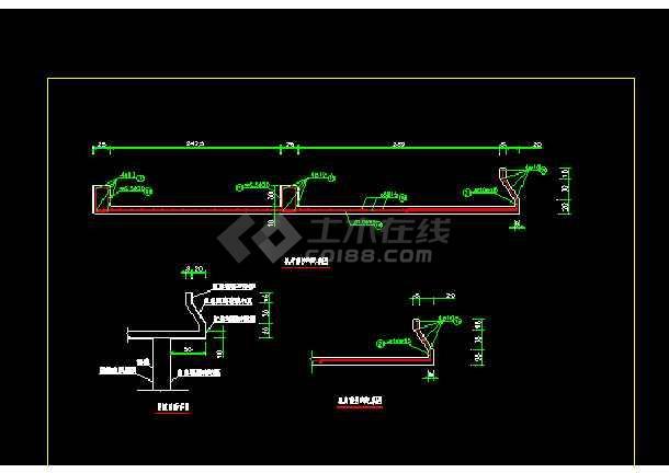 某地老闸加固水利工程设计图(含设计说明)-图1