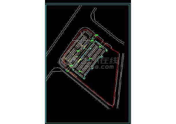 南京办公大楼建筑施工CAD设计图纸-图1