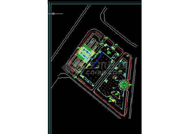 南京办公大楼建筑施工CAD设计图纸-图2