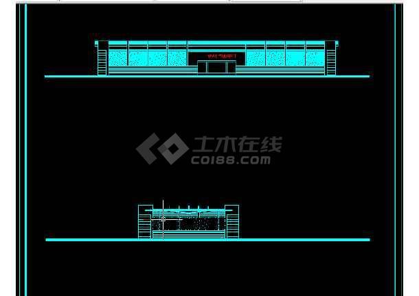 南京办公大楼建筑施工CAD设计图纸-图3
