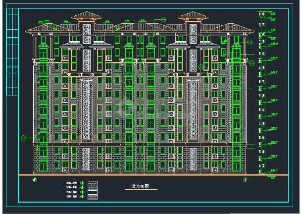 南郡明珠小高层住宅建筑设计CAD施工图-图1