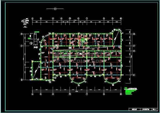 【独家整合】幼儿园各式风格建筑施工图(共50套)-图3