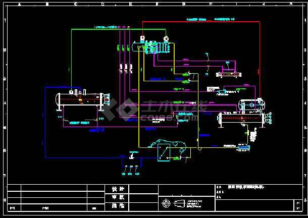 HSXL-U型干式 满液式 降膜式制冷系统原理图-图1