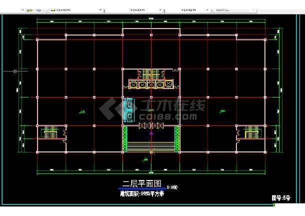 重庆佳乐大厦全套建筑施工CAD设计图纸放方案-图3