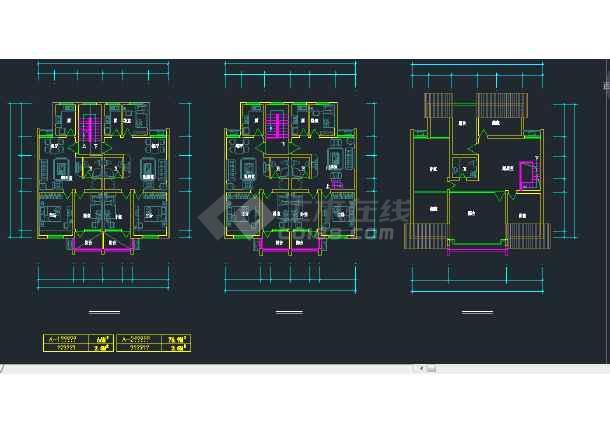 宁波市东钱湖安置居住区钱湖人家三期建筑设计CAD施工方案图-图1