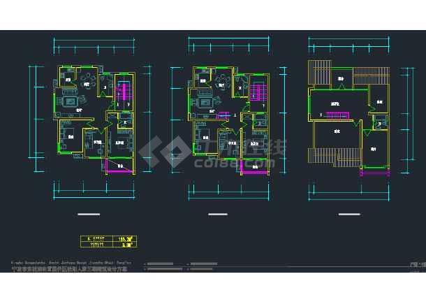 宁波市东钱湖安置居住区钱湖人家三期建筑设计CAD施工方案图-图3