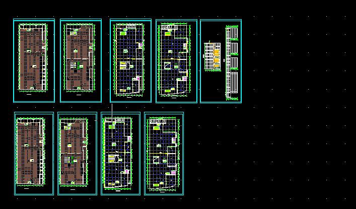 某商场附带地下二层停车场CAD设计图纸图片1