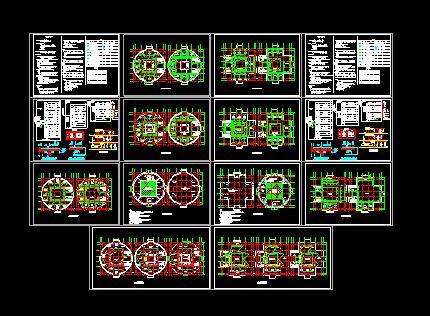 某地三层办公楼电气设计图(含设计说明)图片1