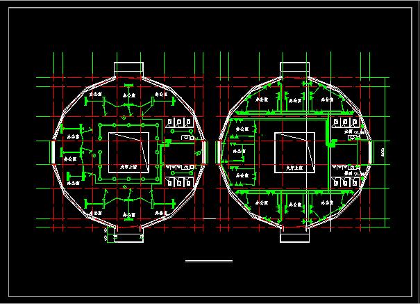 某地三层办公楼电气设计图(含设计说明)图片2