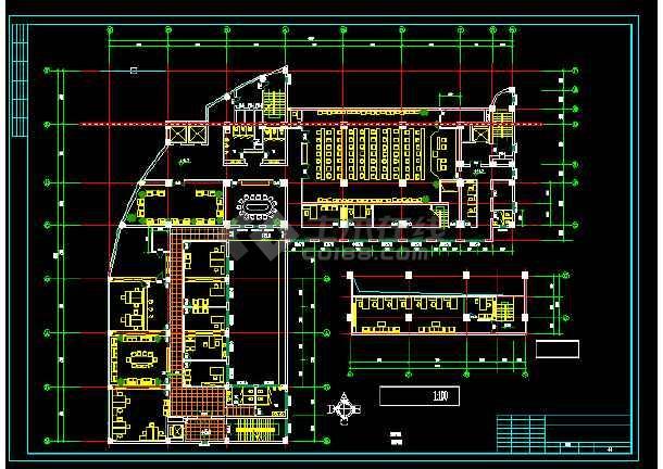 电信大楼建筑施工CAD设计图纸方案-图1