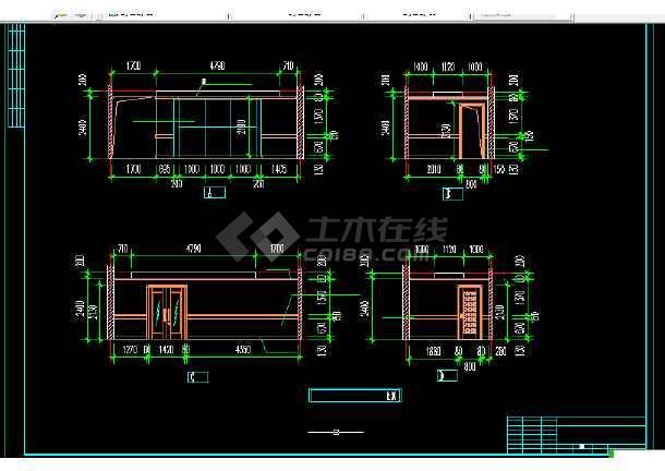 电信大楼建筑施工CAD设计图纸方案-图2