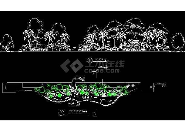 某地大型小区环境建筑施工图(标注详细)-图2