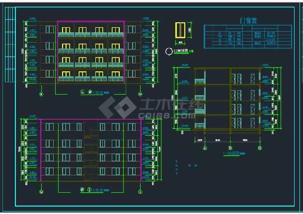 南宁市某地区某小区住宅楼建筑设计CAD施工图-图1