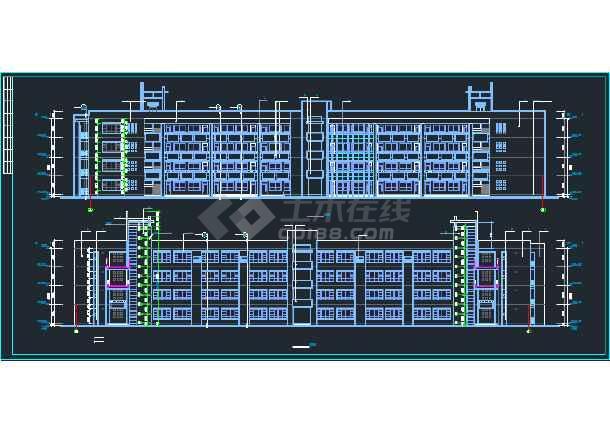 【独家整合】中小学教学楼建筑设计施工图(共46套)-图3