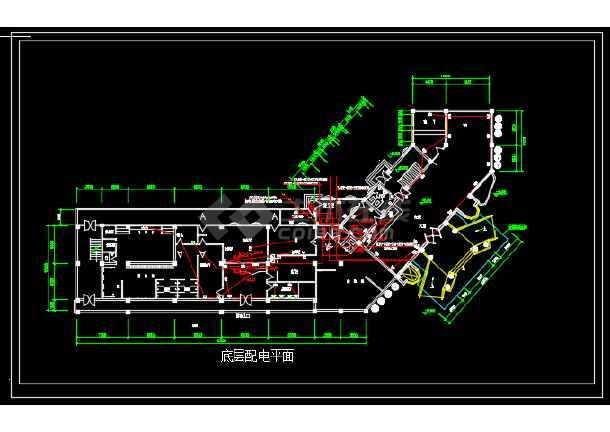 点击查看某地区宾馆电气改造工程设计CAD施工图纸第1张大图
