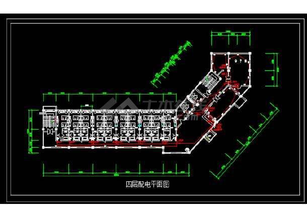点击查看某地区宾馆电气改造工程设计CAD施工图纸第2张大图