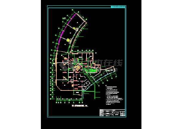 某工程平战结合配电电气图 (标注详细)-图1