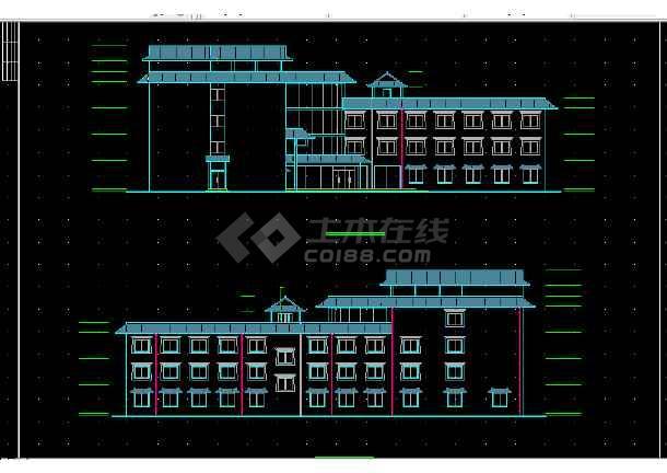 一套宾馆全套建筑施工CAD设计图纸方案-图3