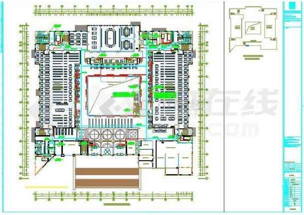 某地图书馆电气施工图纸(标注详细)-图2