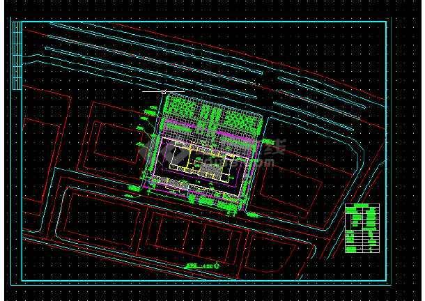 高级写字楼全套建筑施工CAD设计详图方案-图1