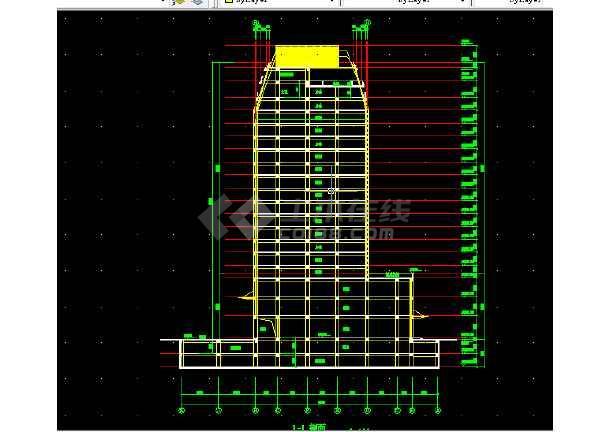 高级写字楼全套建筑施工CAD设计详图方案-图2
