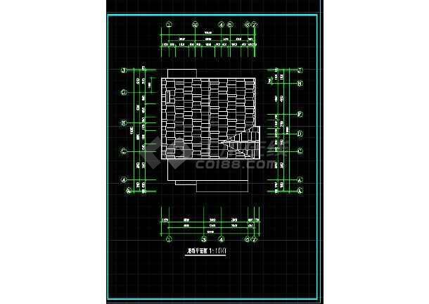 经典的农村三层住宅建筑施工图(共10张)-图1
