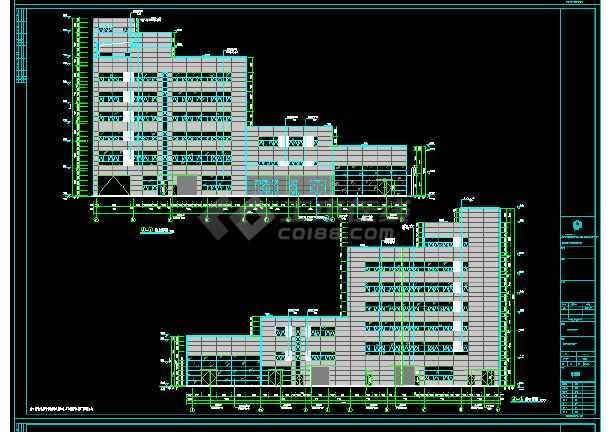 厂房 4S店 高低跨多 基础 结构 梁板施工图-图1