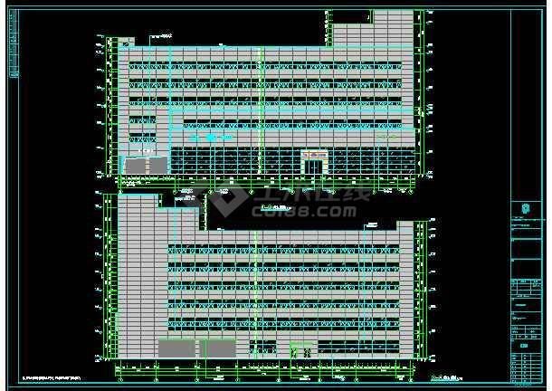 厂房 4S店 高低跨多 基础 结构 梁板施工图-图2