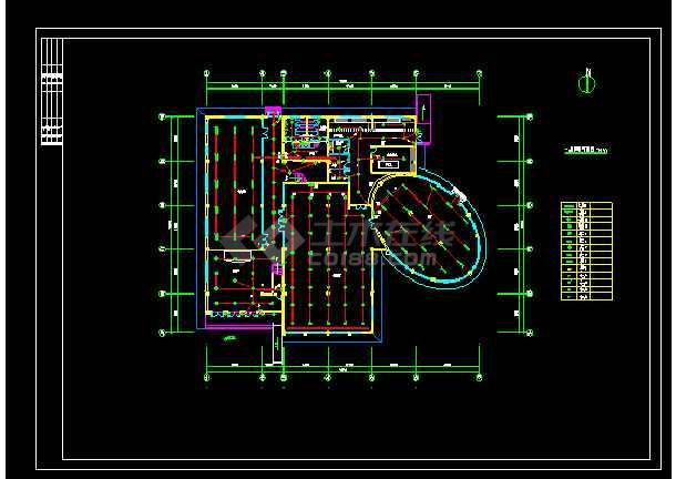 比较齐全的会所电气图纸(共8张)-图1