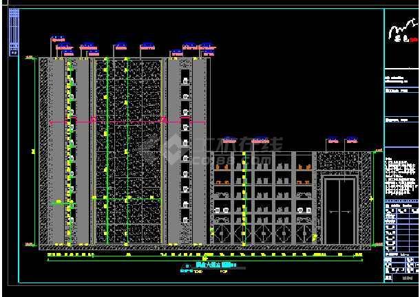 精品酒店商务旅游建筑装修设计图-图1