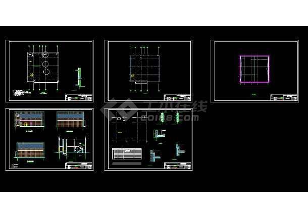中南地区鄂南地区某金库剪力墙结构设计图-图1