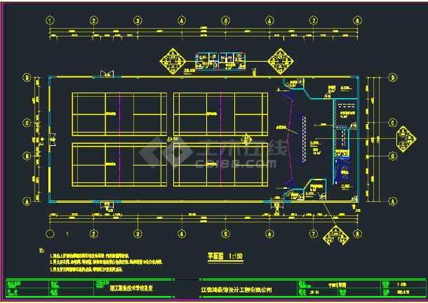 【独家整合】大学教学楼各式装修设计图(共13套)-图3