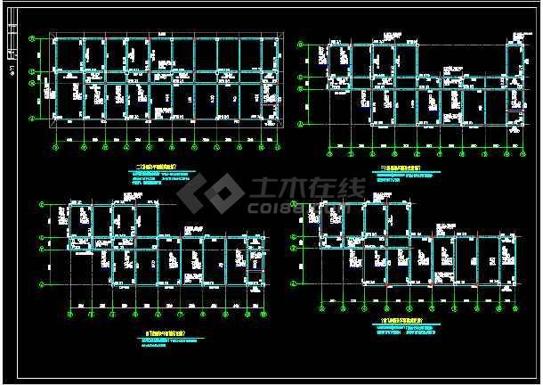 某银行分行建筑结构设计cad图纸(含设计说明)-图1