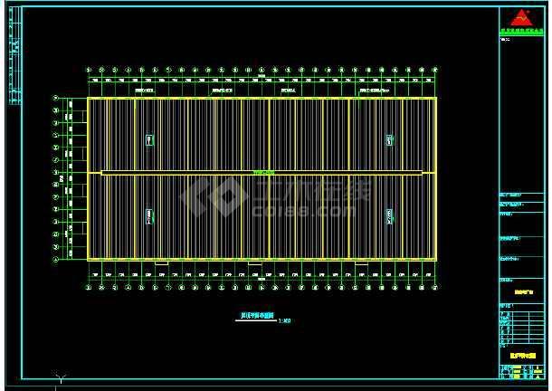某公司187×87厂房工程CAD图(节点详细)-图1