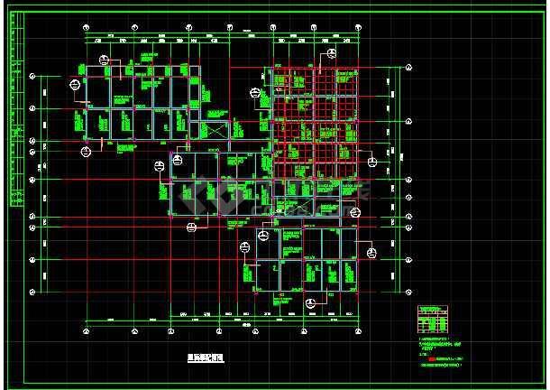 某小区幼儿园框架结构图(节点详细)-图1