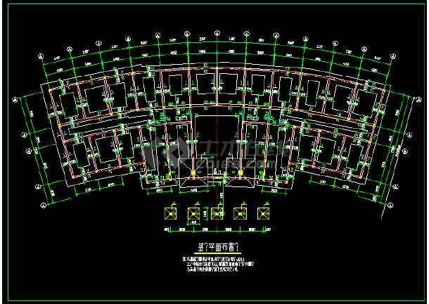 某砖混结构办公楼建筑cad施工图(含设计说明)-图1