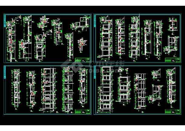 异形框架柱结构全套图纸(共28张)-图1