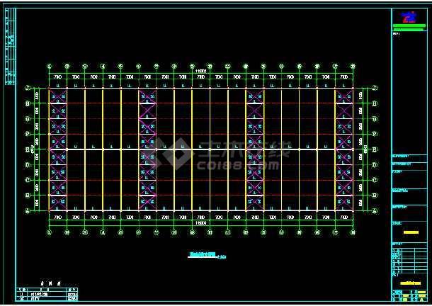 119米x48米钢结构工程CAD图纸(节点详细)-图1