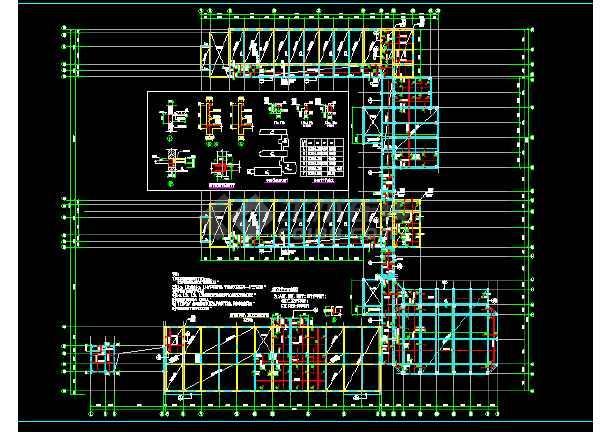 某小学大楼结构cad施工图(节点详细)-图1