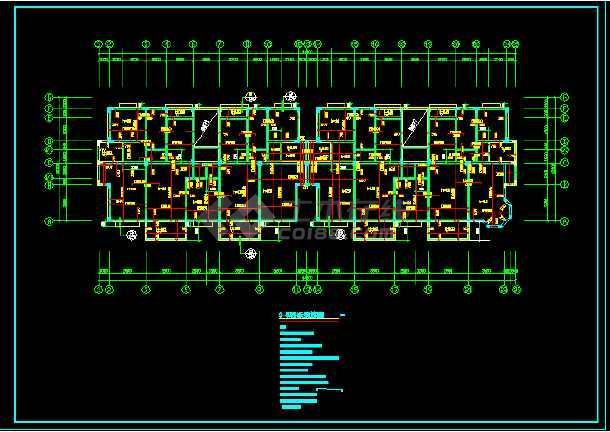 某异型柱结构住宅cad施工图(全套)-图1