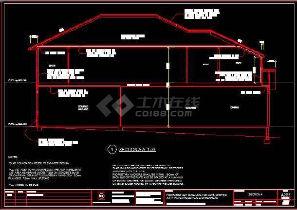 某住宅木结构建筑结构设计施工图纸-图二