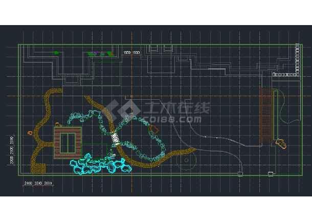 别墅庭院景观规划施工详图-图2