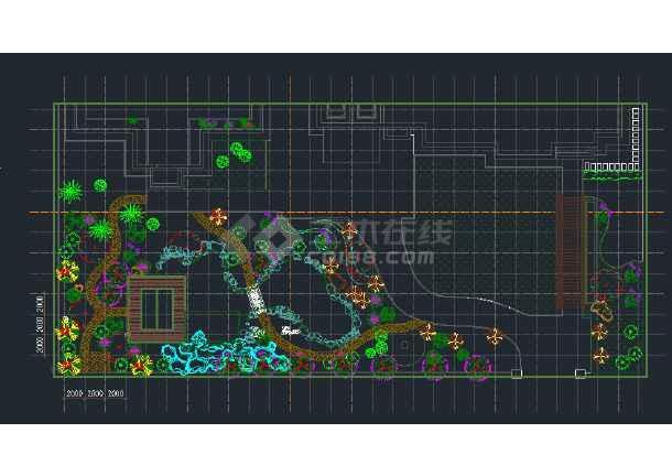 别墅庭院景观规划施工详图-图3