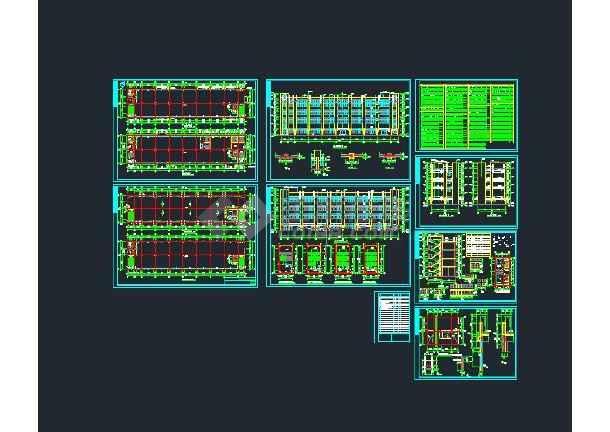 点击查看【整合】十套多层厂房建筑施工图纸第1张大图