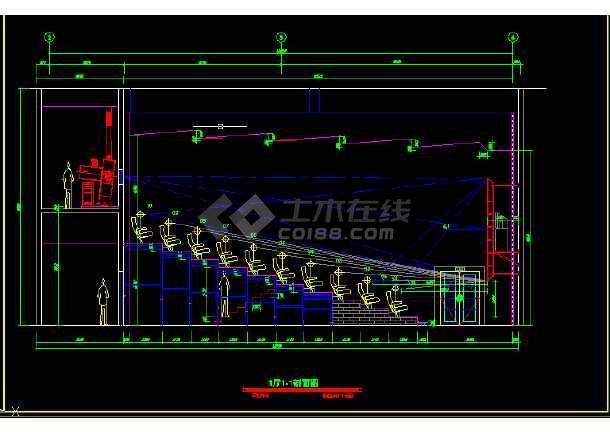 保利国际电影院全套建筑施工CAD设计图纸-图2