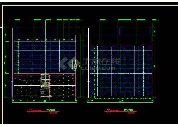 保利国际电影院全套建筑施工CAD设计图纸-图3