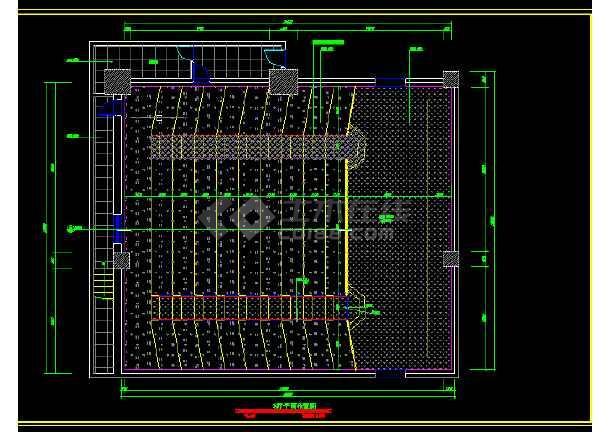 大型电影院全套建筑施工CAD设计图纸-图1