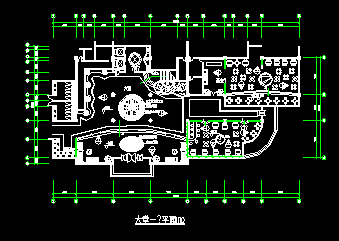 西餐厅建筑设计施工CAD一层平面图图片2