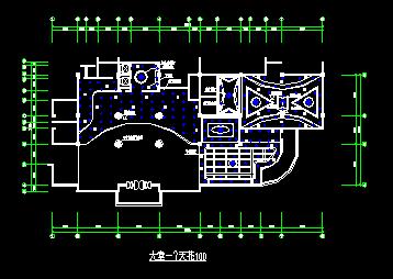 西餐厅建筑设计施工CAD一层平面图图片3